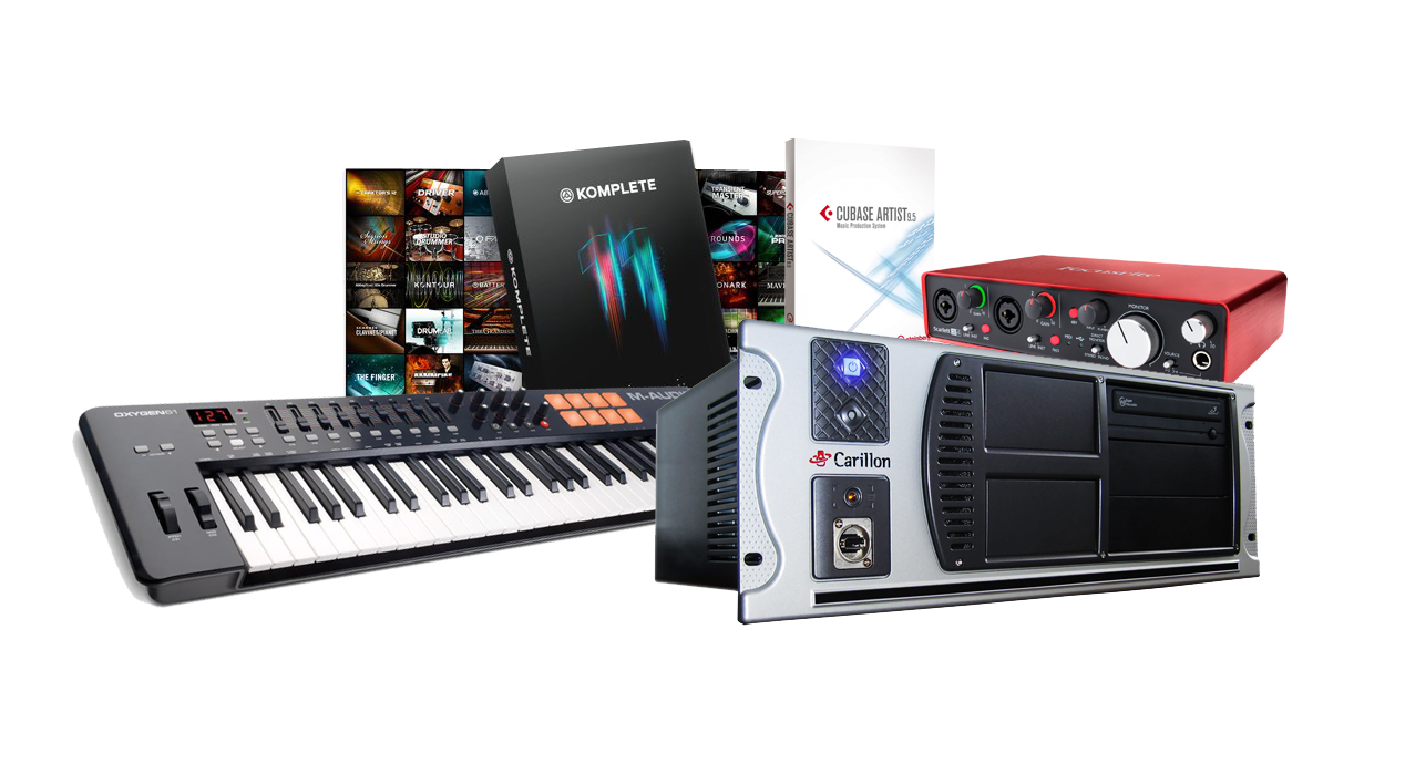 Music composer computer package with Cubase and Native Instruments