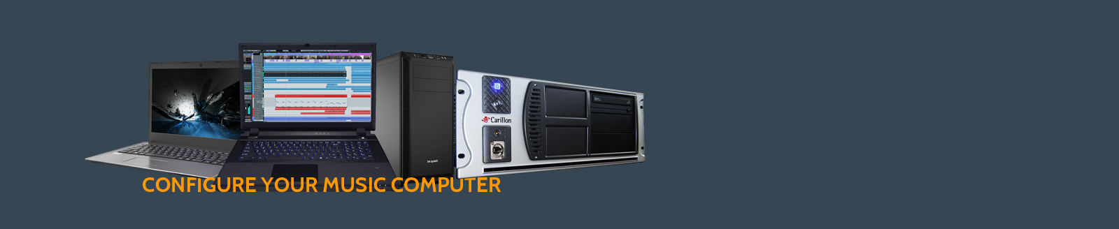 Configure your Carillon audio computer,  laptop, tower, rack